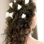 Свадебная прическа на вьющиеся волосы