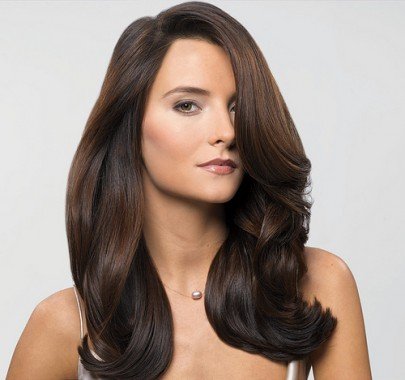 smooth shiny hair with volume